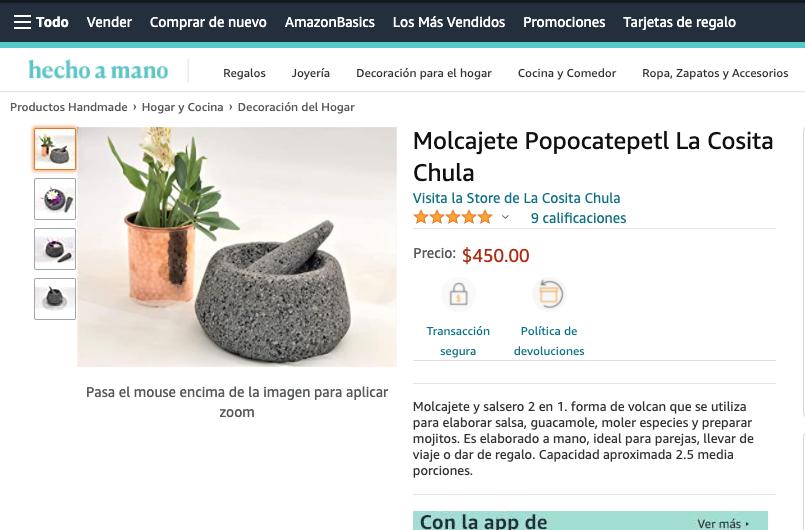Artesanos Mexicanos encuentran crecimiento con Amazon Handmade