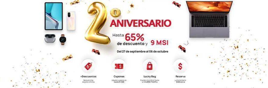 Huawei tendrá descuentos de hasta el 65% en su segundo aniversario en México